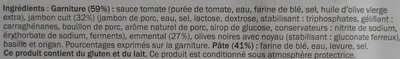 La Classique - Jambon Emmental - Ingredients - fr