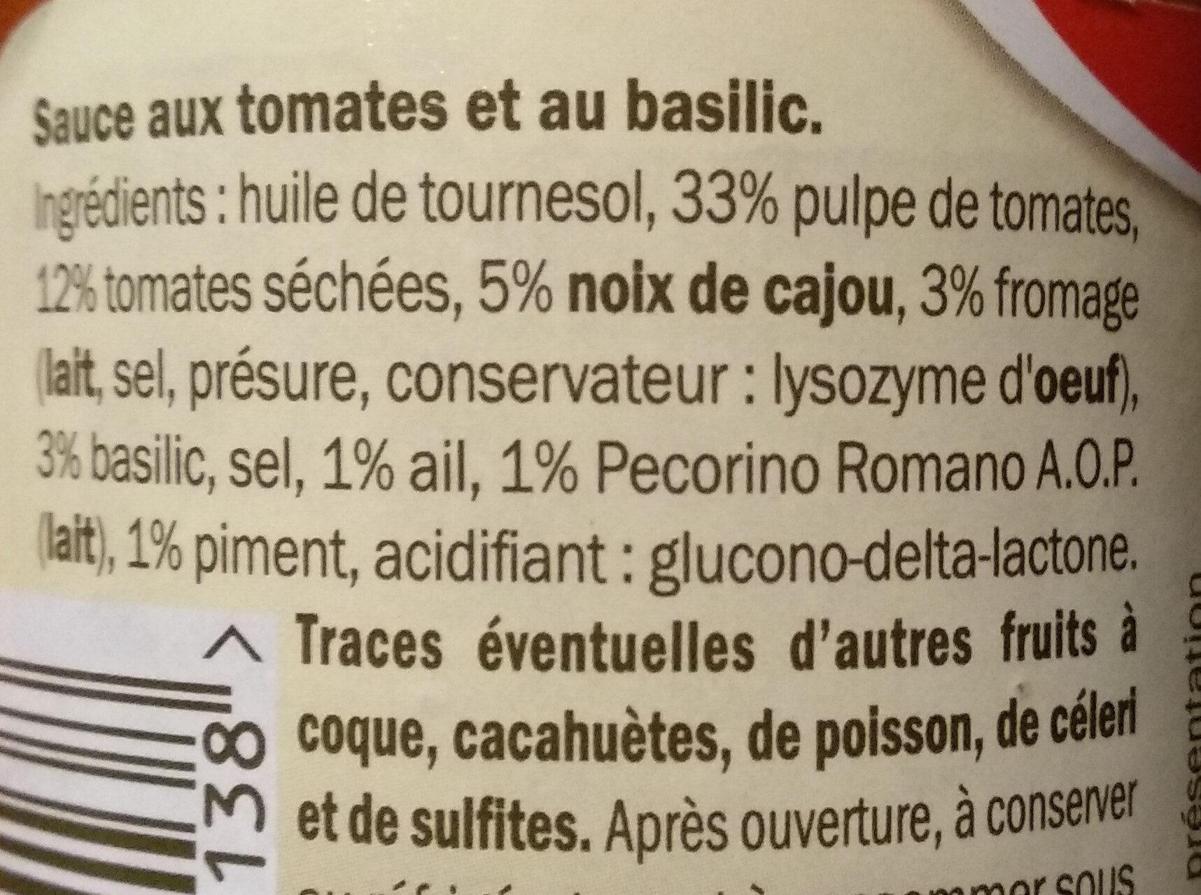 Pesto rosso - Ingredientes - en