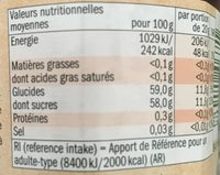 Confiture extra fraise - Nutrition facts