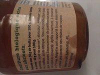Confiture bio abricots - Ingredienti - fr