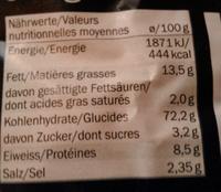 Tarallini 14% olio d'oliva - Nährwertangaben