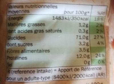 Fresh Meadow Organic Spaghetti - Voedingswaarden - fr