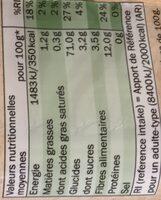 BIO Spaghetti - Informations nutritionnelles - fr