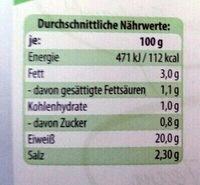 Delikatess Spargelschinken - Voedingswaarden