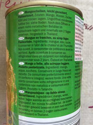 Mango Scheiben gezuckert - Ingrédients - fr