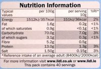 Fines Chapelure de Pain - Nutrition facts