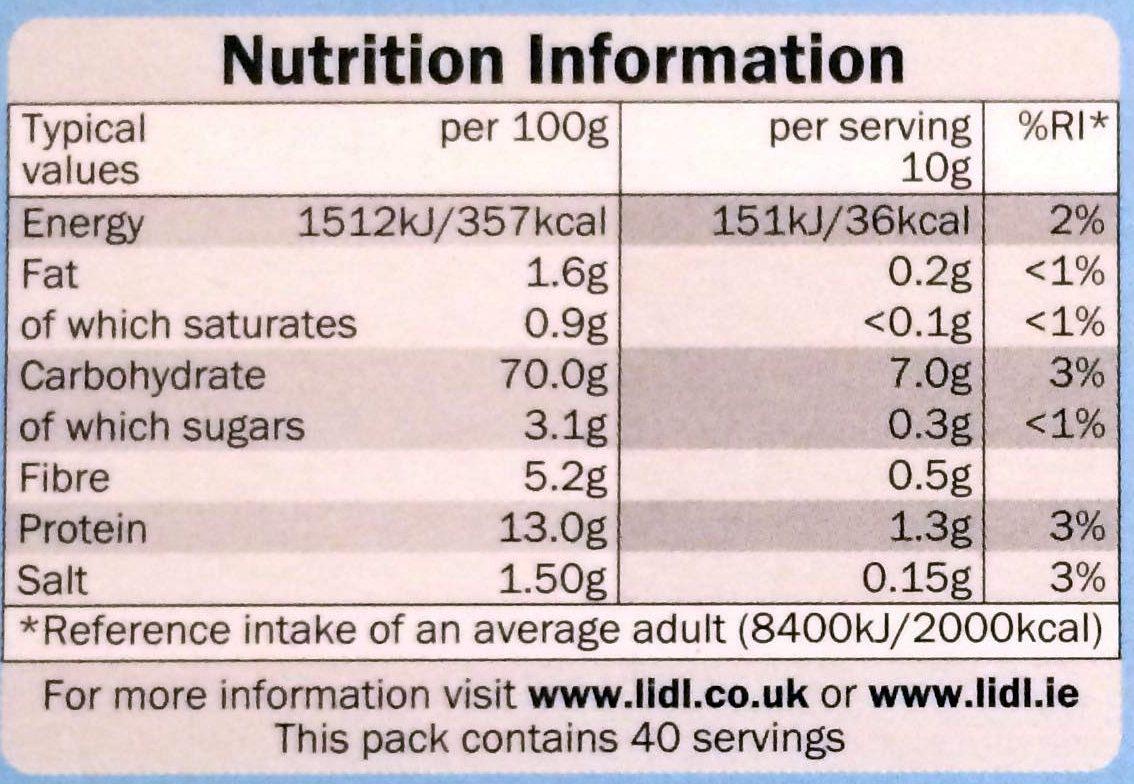 Fines Chapelure de Pain - Nutrition facts