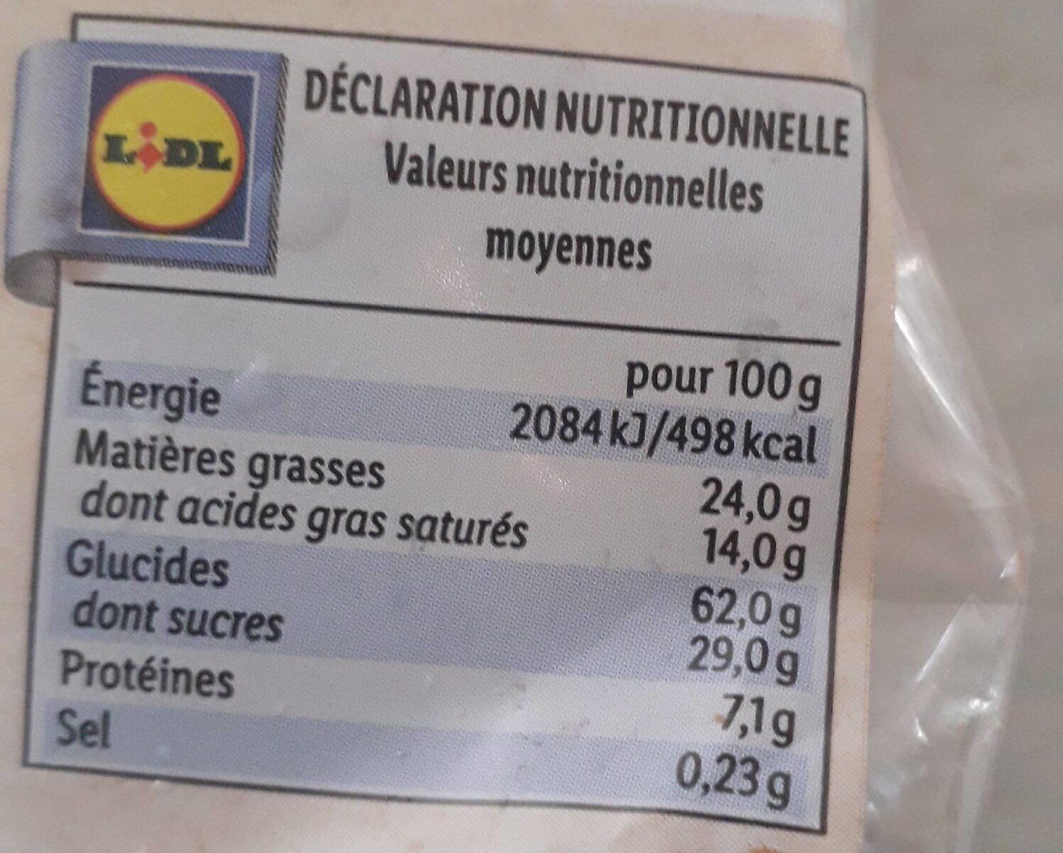 Galettes de riz chocolat au lait - Información nutricional - fr