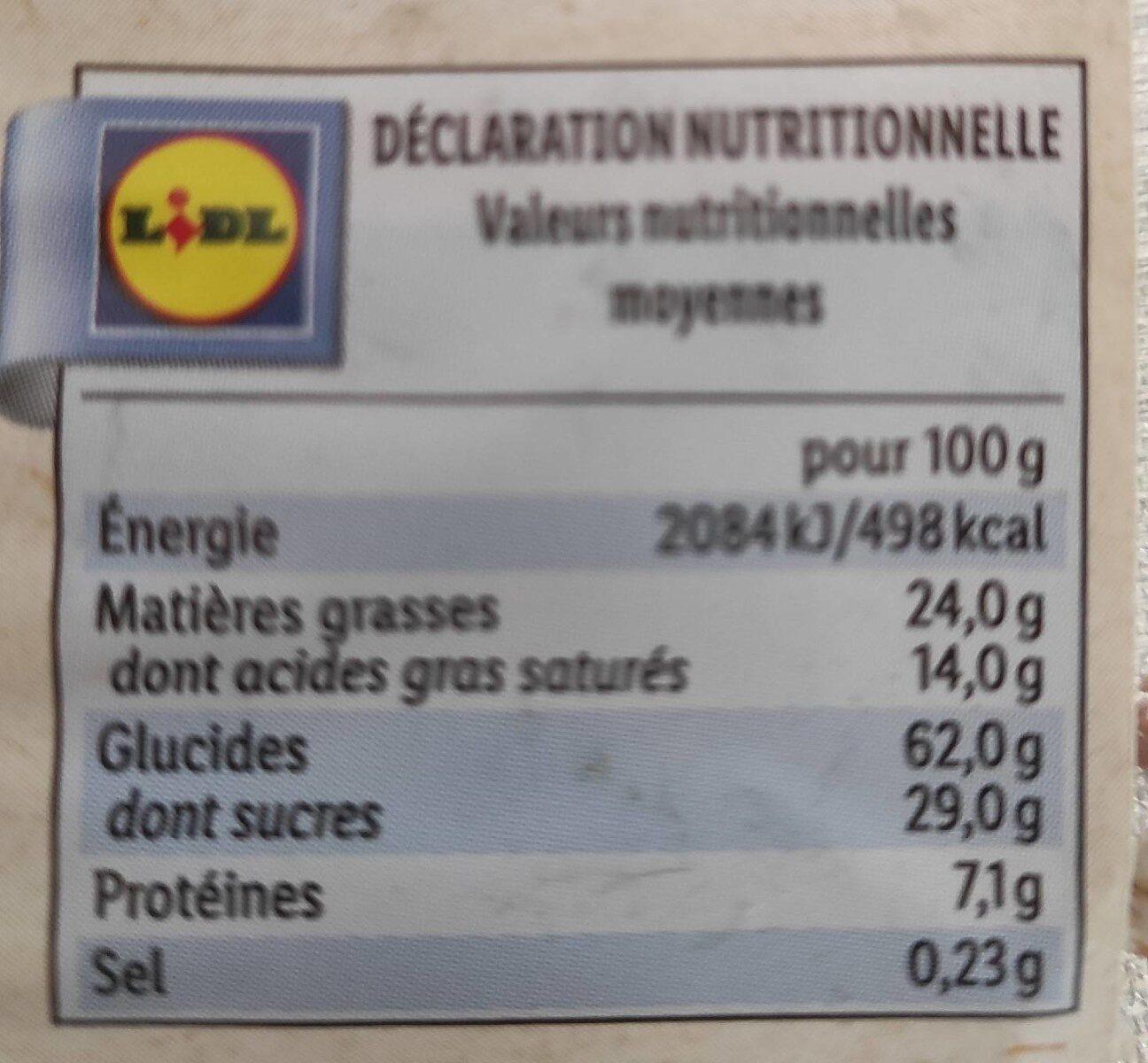 Galettes de riz bio - Información nutricional - fr