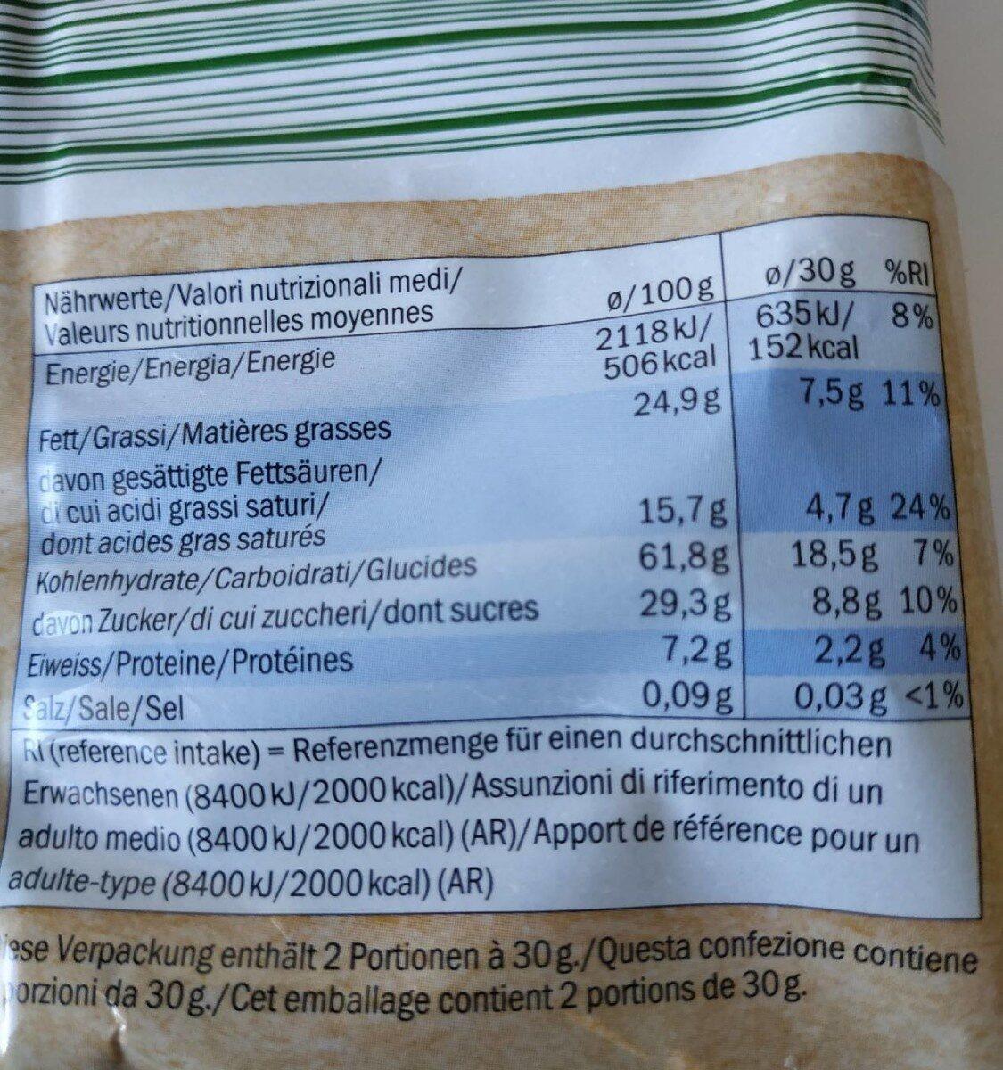 Bio Mini Rice Waffle - Información nutricional
