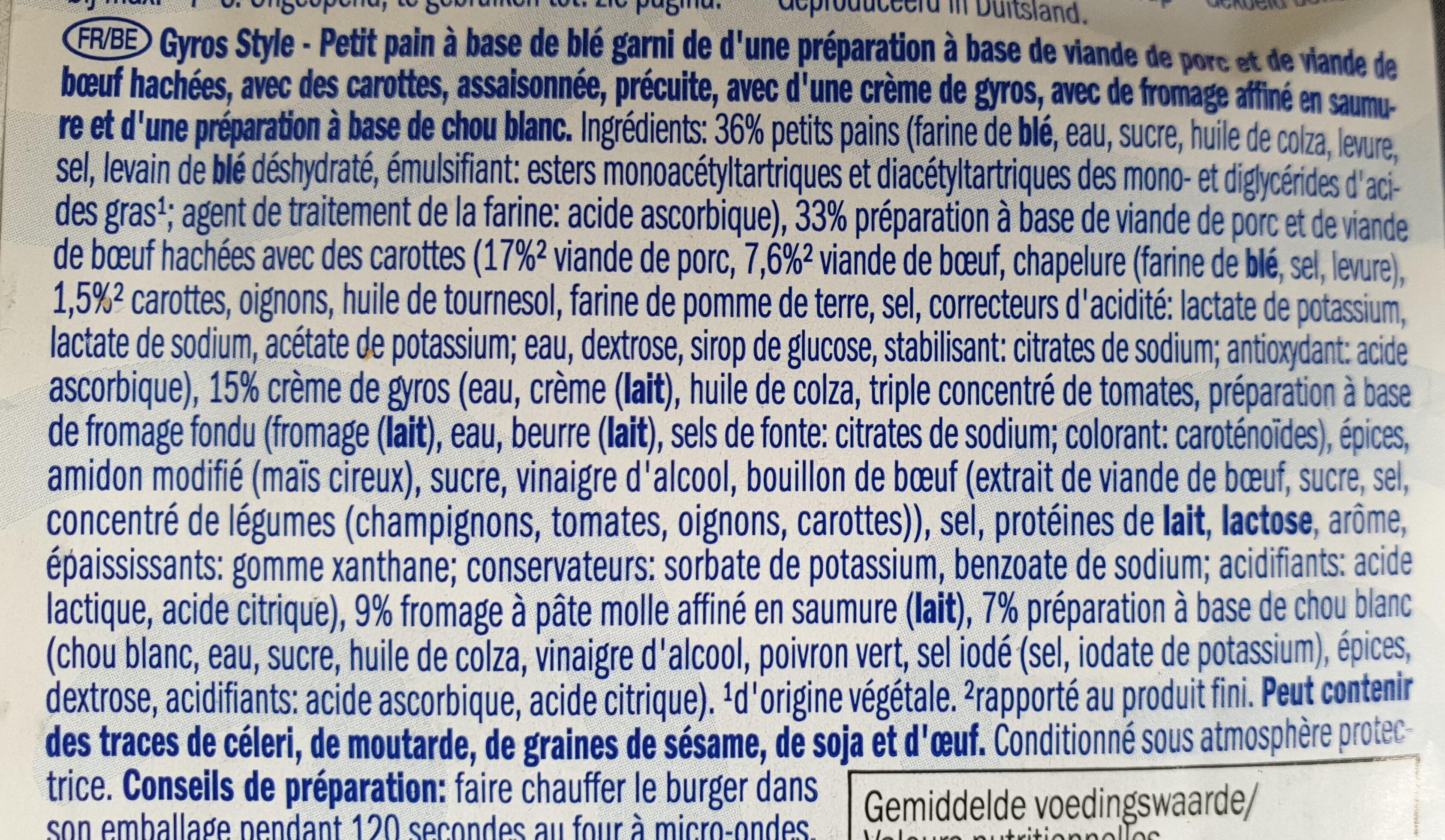 Eridanpus - Ingrediënten