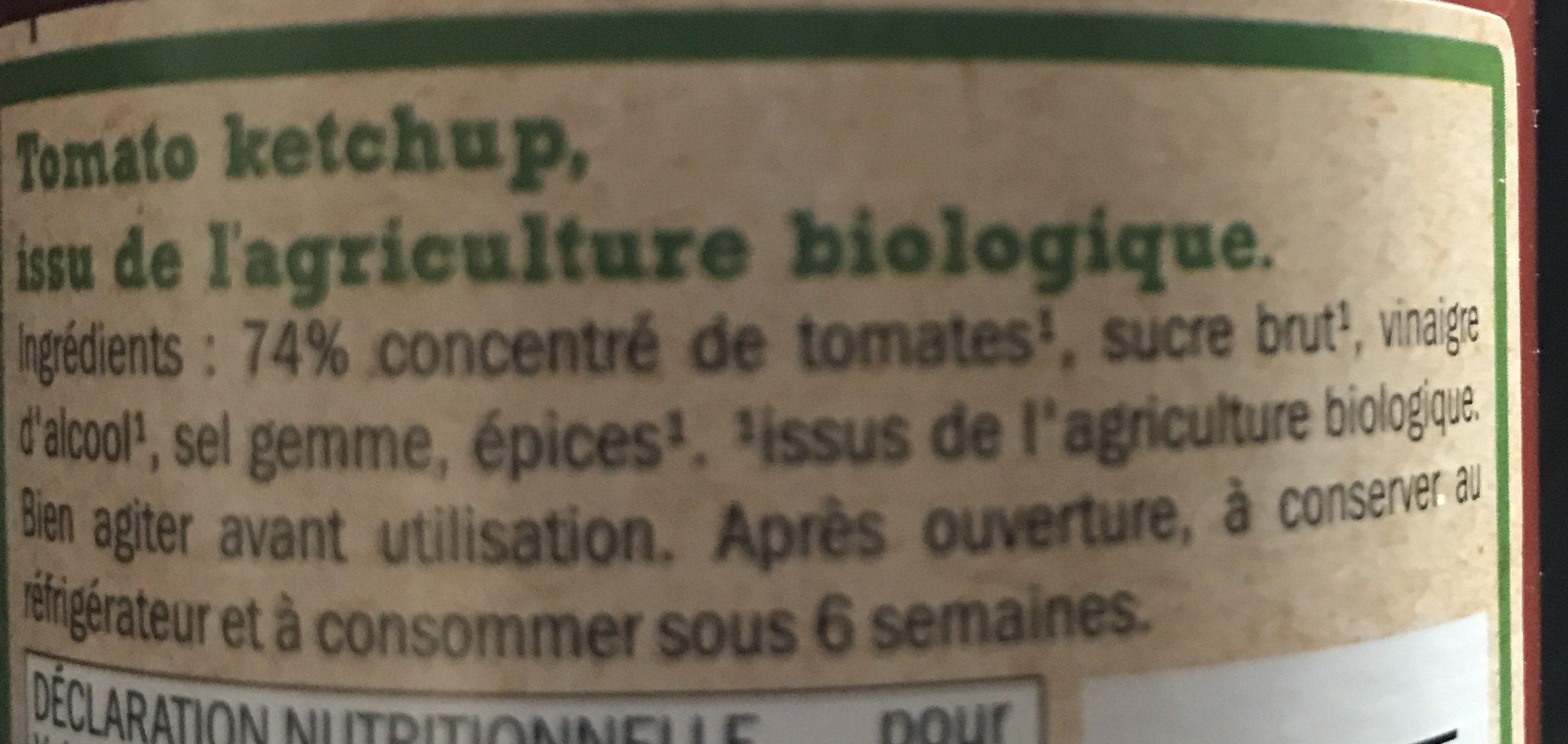 Bio tomato ketchup - Ingrédients - fr