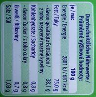 Die Streichbare mit Alpensalz - Nutrition facts - de