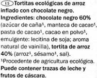 Galettes de Riz au Chocolat Noir BIO - Ingredienti