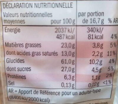Galettes de Riz au Chocolat Noir BIO - Voedingswaarden - es