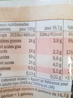 Galettes de Riz au Chocolat Noir BIO - Informations nutritionnelles - fr