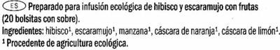 Bio Fruit Infusion - Ingredientes - es