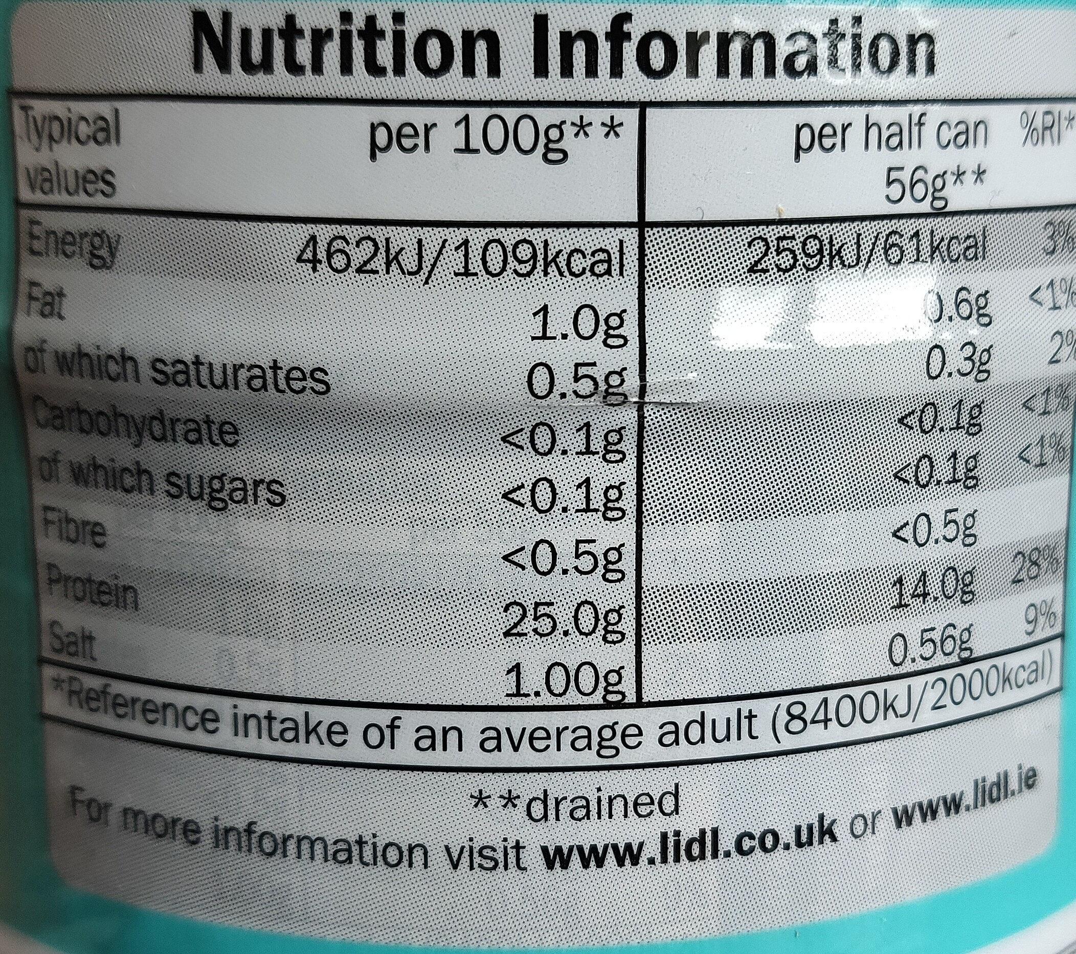 Thon - Nutrition facts - en