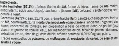 Feuilleté à la Diable Porc & Moutarde - Ingrediënten - fr
