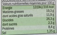 Feuilleté à la Diable Porc & Moutarde - Voedingswaarden - fr