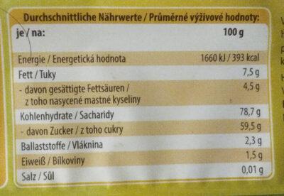 Gelee-Bananen - Voedingswaarden