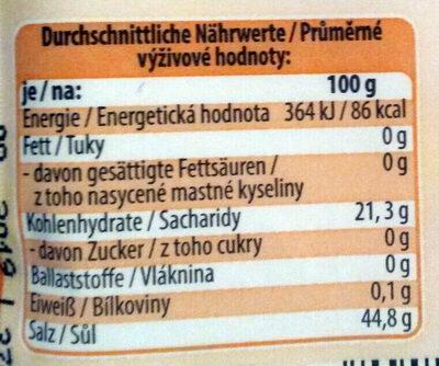 Backpulver - Informations nutritionnelles - de
