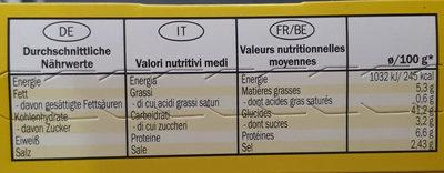 Fajitas wrap kit - Voedingswaarden - fr