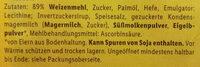 Zwieback - Ingredients - de