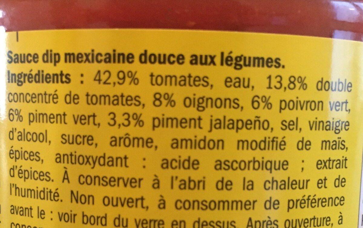 Chunky Salsa Dip Douce - Ingredientes
