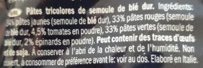 Trotolle tricolore - Ingredienti - fr