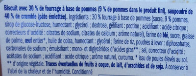 Gâteau au Crumble Pomme - Ingrédients - fr