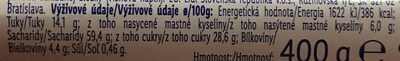 Gâteau au Crumble Cerise - Výživové údaje - cs