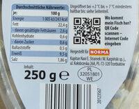 Heringsröllchen mit gehackten Zwiebeln - Nutrition facts