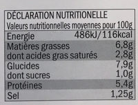 Broccoli-Gratin mit Kartoffeln - Informations nutritionnelles - fr