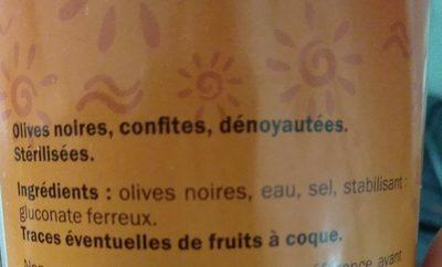 Aceitunas negras sin hueso - Ingrédients - fr
