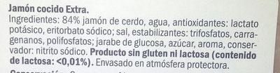 Jamón cocido - Ingredients