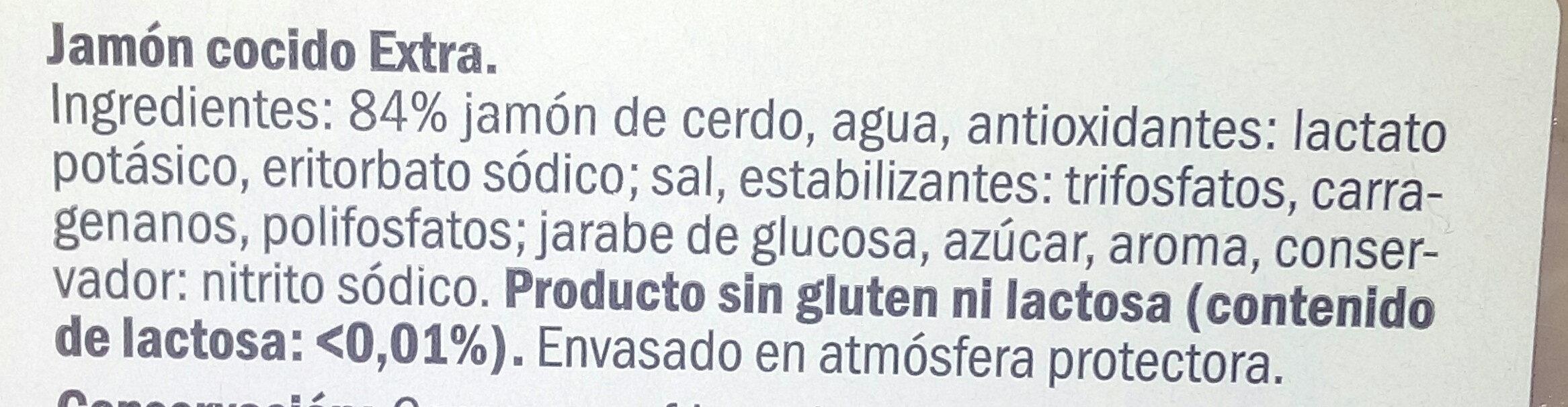 Jamón cocido - Ingredientes - es