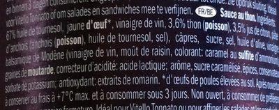 Sauce au Thon - Ingrediënten - fr