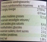Sauce au Thon - Voedingswaarden - fr