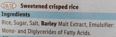 Rice Snaps - Ingredients - en
