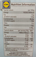 Rice Snaps - Nutrition facts - en