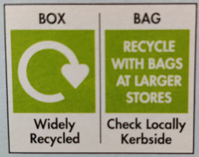 Rice Snaps - Recycling instructions and/or packaging information - en