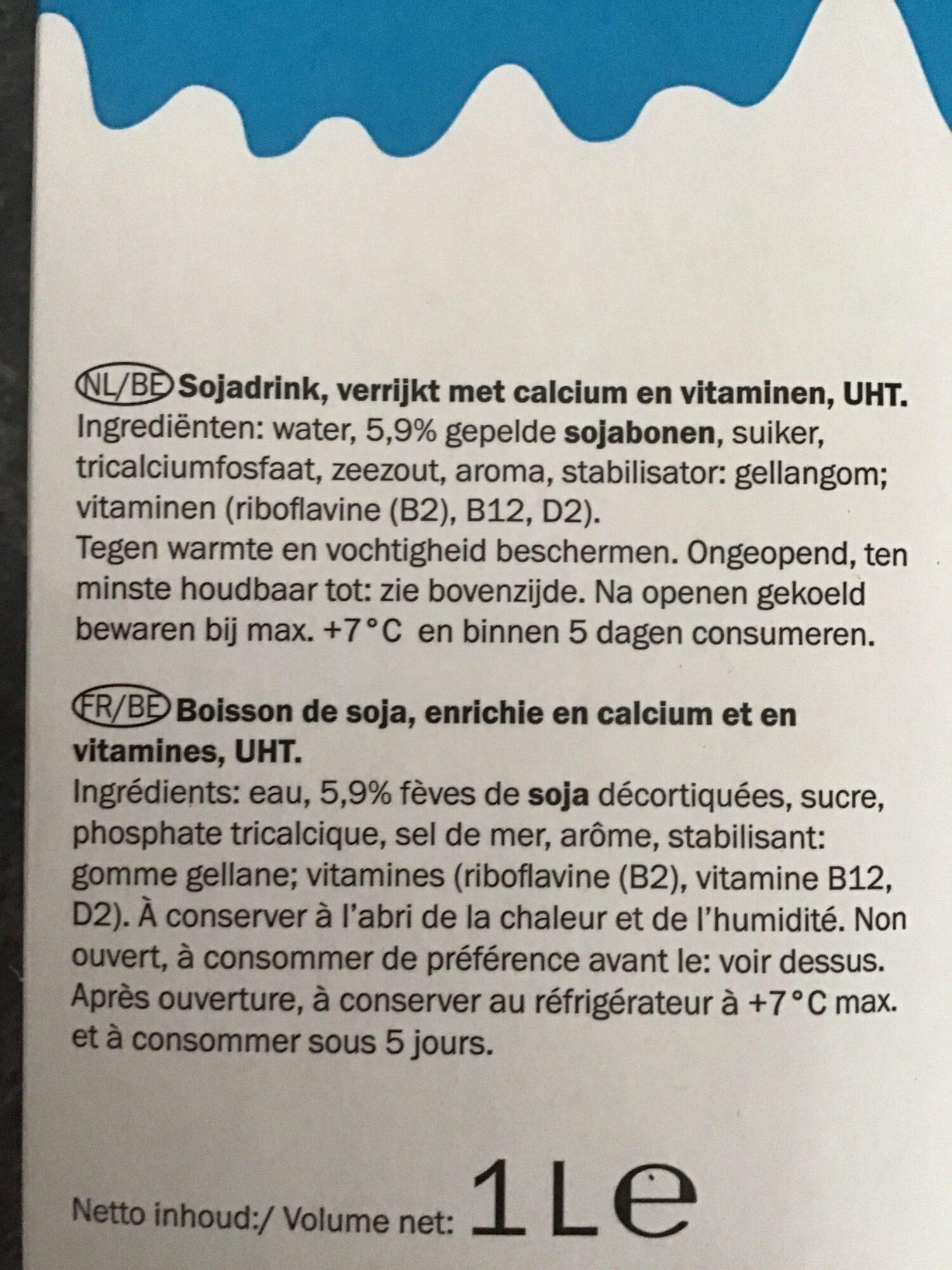 Soja Natural - Ingrediënten