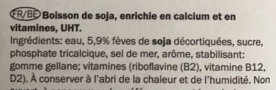 Milbona Soja natural - Ingredients - fr