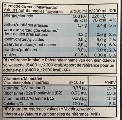 Milbona Soja natural - Nutrition facts - fr