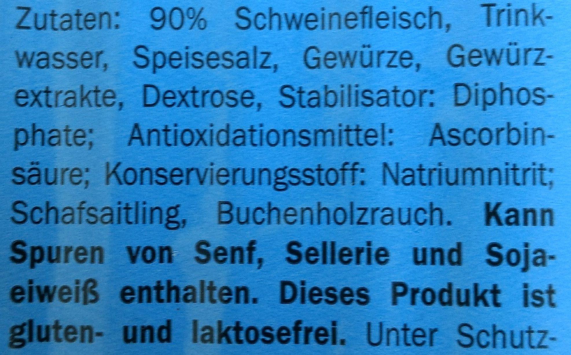Delikatess Schinken-Wiener Light - Ingredientes
