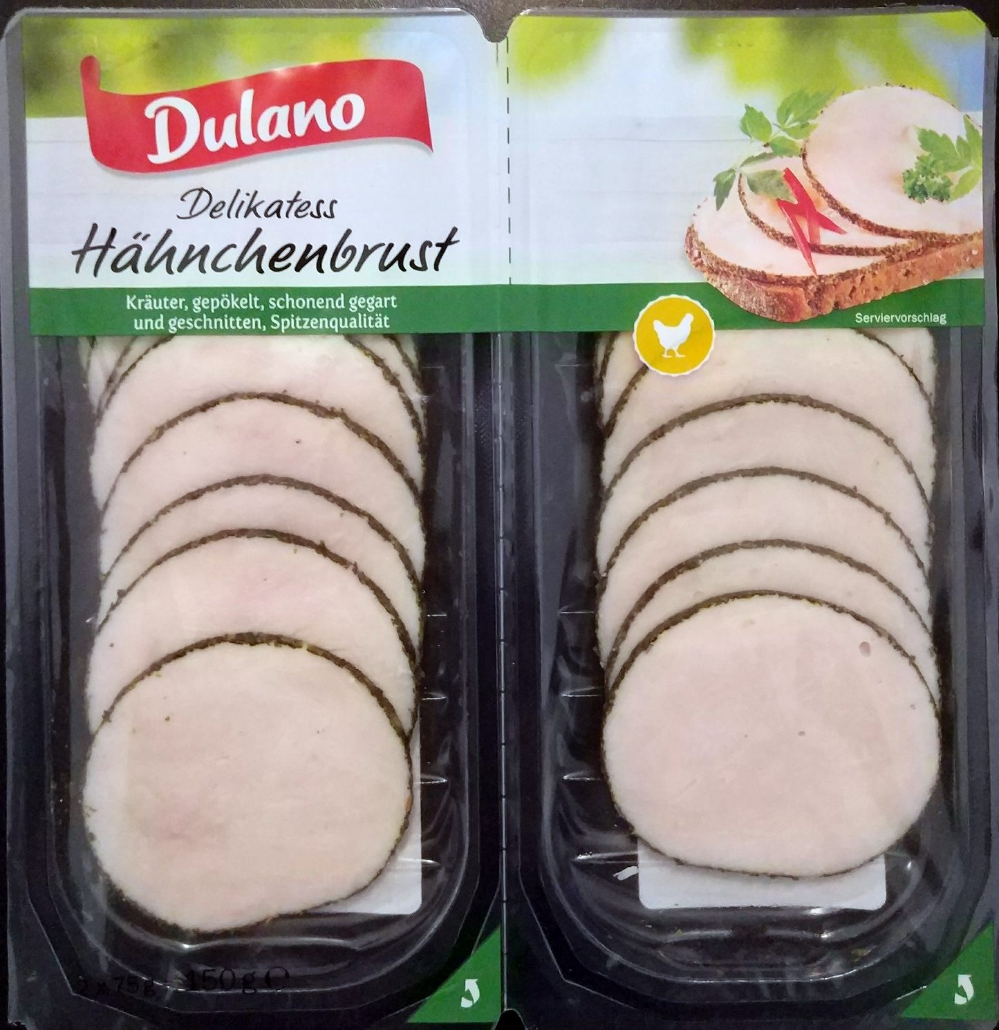 Chicken breast slices with herbs - Product - de