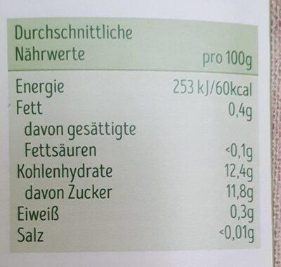 Apfelmark - Valori nutrizionali - fr