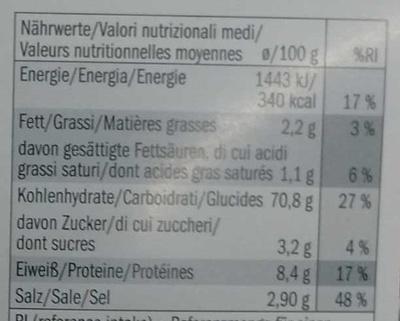 Risotto Carnaroli con Radicchio - Nutrition facts - fr