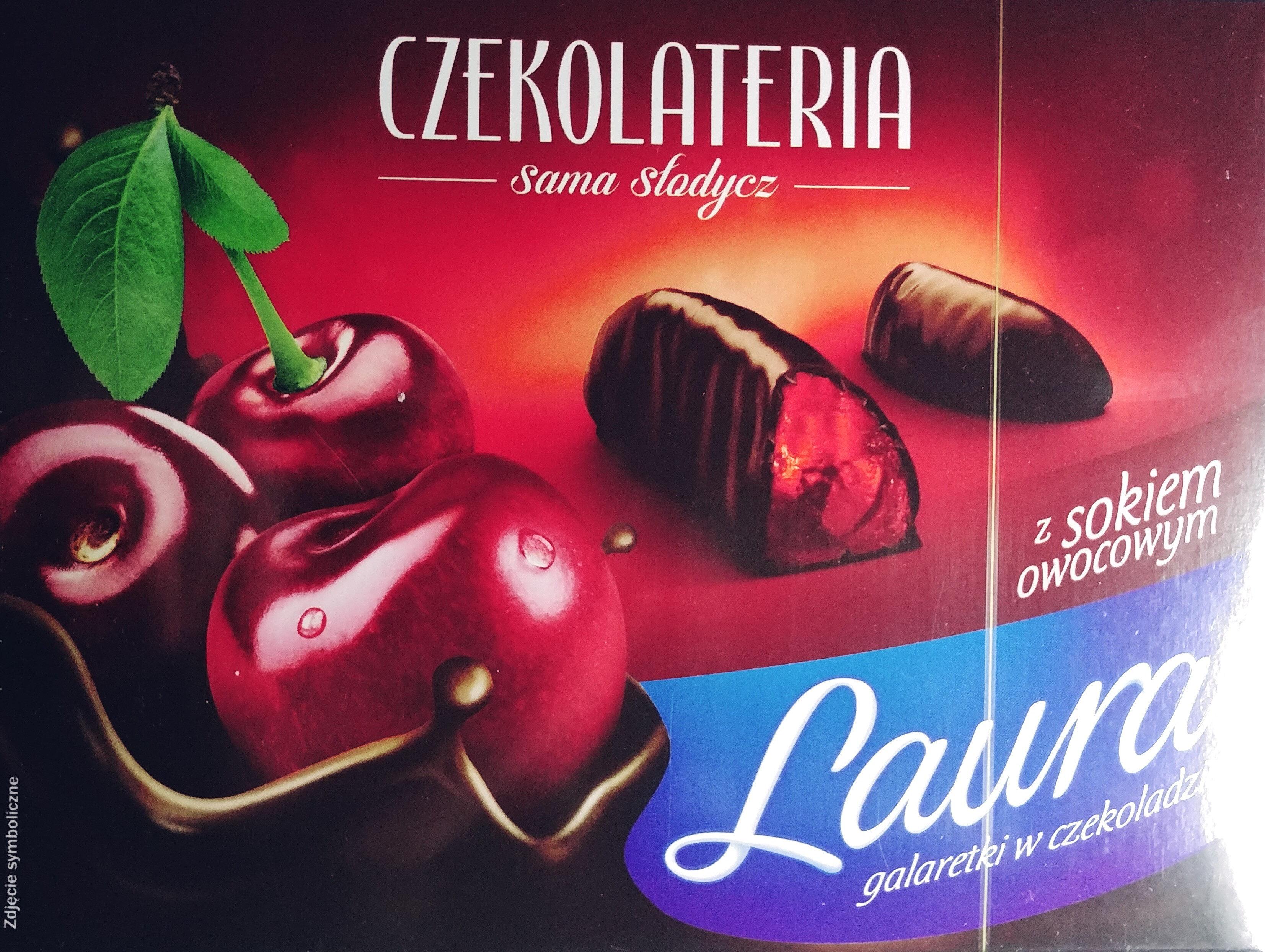 Galaretki o smaku wiśniowym w czekoladzie - Produkt - pl